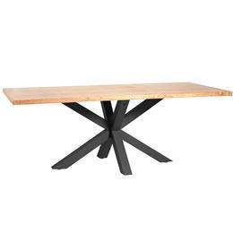 mesa de comedor de chapa de roble