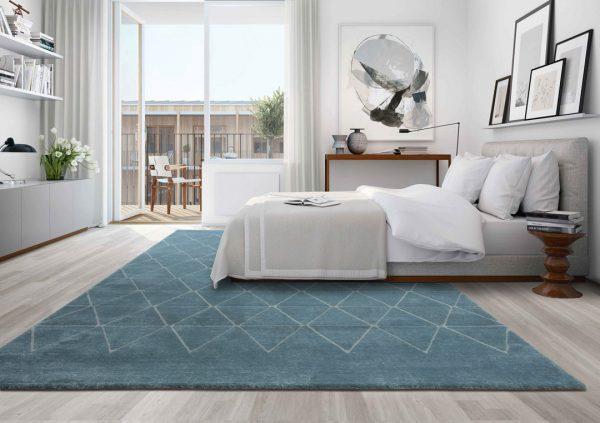 alfombra vega triangulos