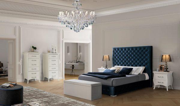 Cama tapizada leono